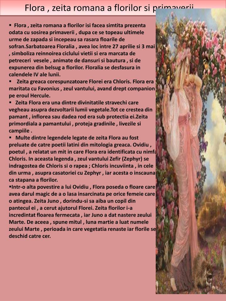 Flora , zeita romana a florilor si primaverii...