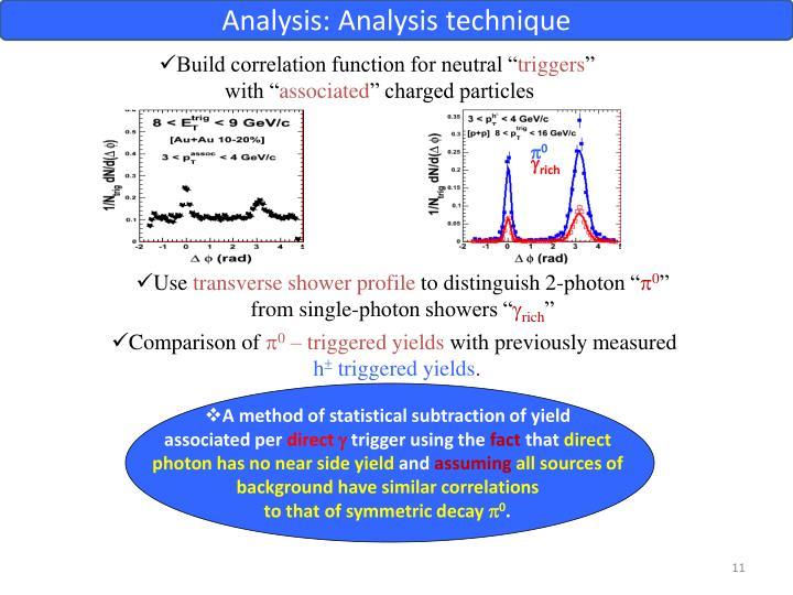 Analysis: Analysis technique