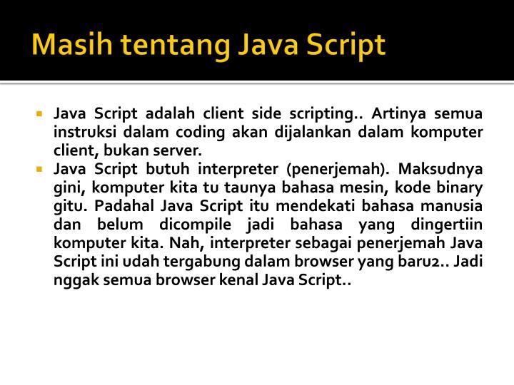 Masih tentang java script