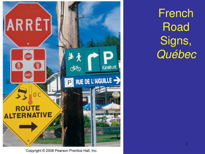 French road signs qu bec