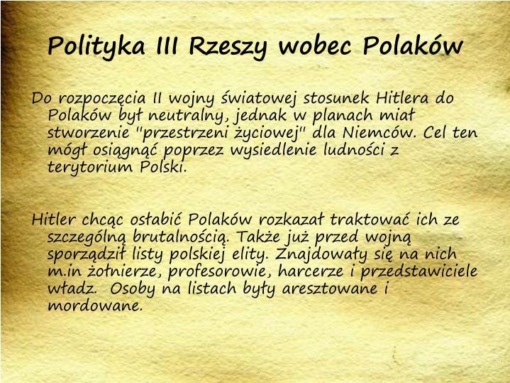 Polityka III Rzeszy wobec Polaków