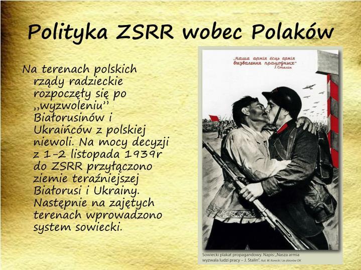 Polityka ZSRR wobec Polaków