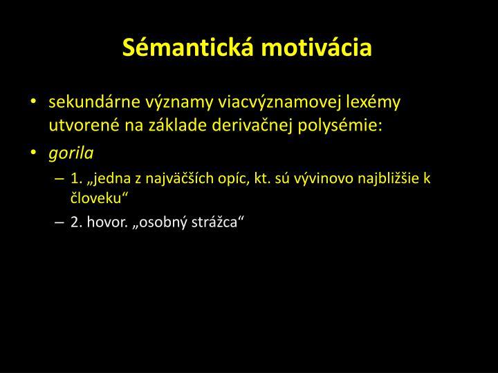 Sémantická motivácia