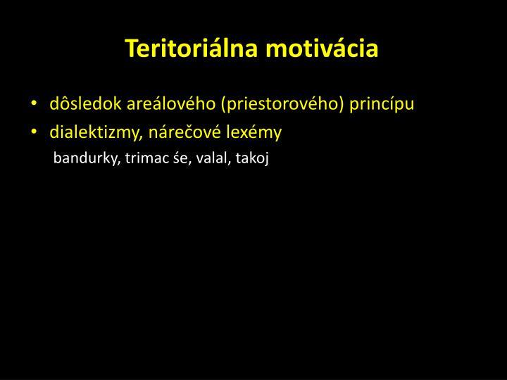 Teritoriálna motivácia