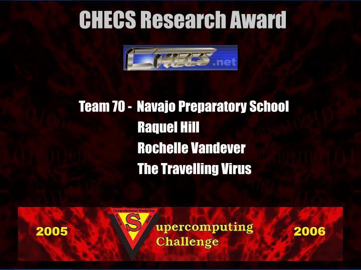 Team 70 -  Navajo Preparatory School