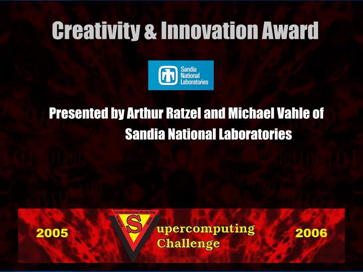 Presented by Arthur Ratzel and Michael Vahle of
