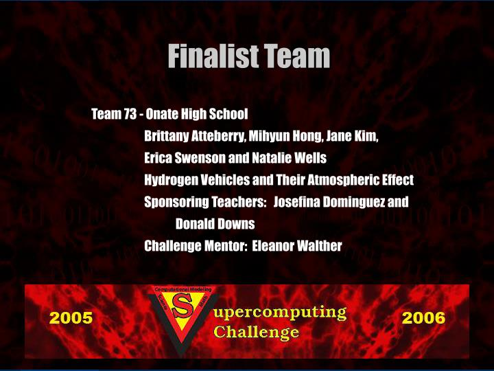 Team 73 - Onate High School