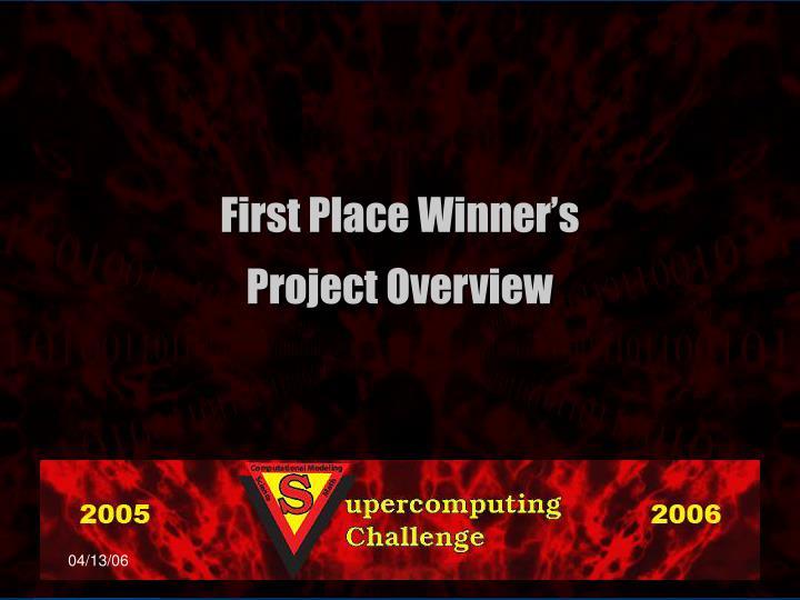 First Place Winner's