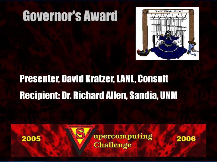 Presenter, David Kratzer, LANL, Consult