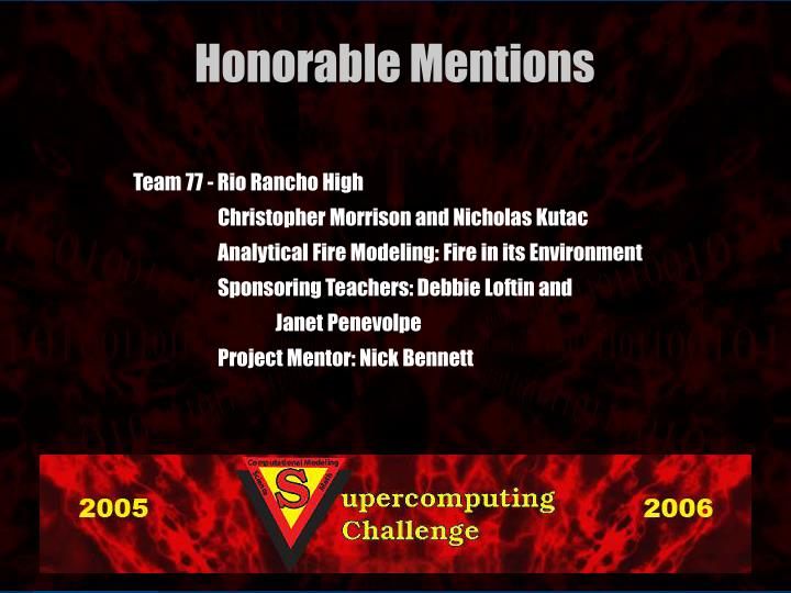 Team 77 - Rio Rancho High