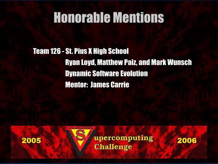 Team 126 - St. Pius X High School