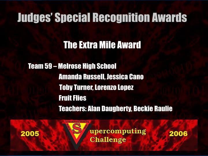 The Extra Mile Award
