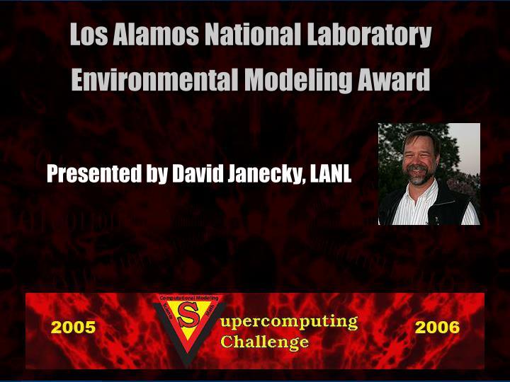Presented by David Janecky, LANL