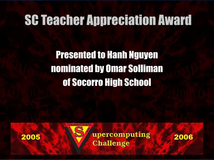 Presented to Hanh Nguyen