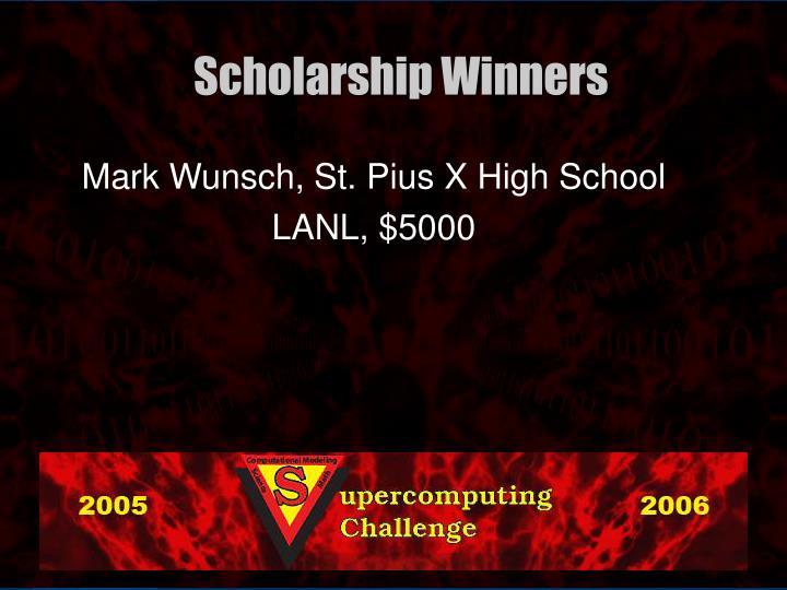 Mark Wunsch, St. Pius X High School