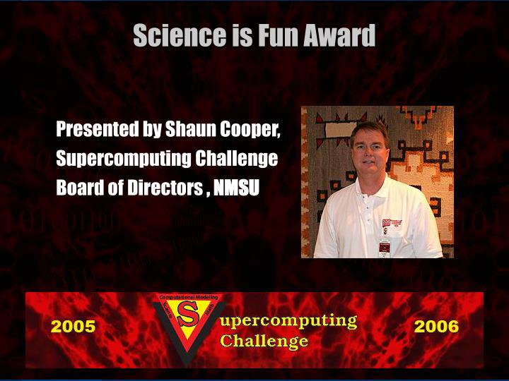 Presented by Shaun Cooper,