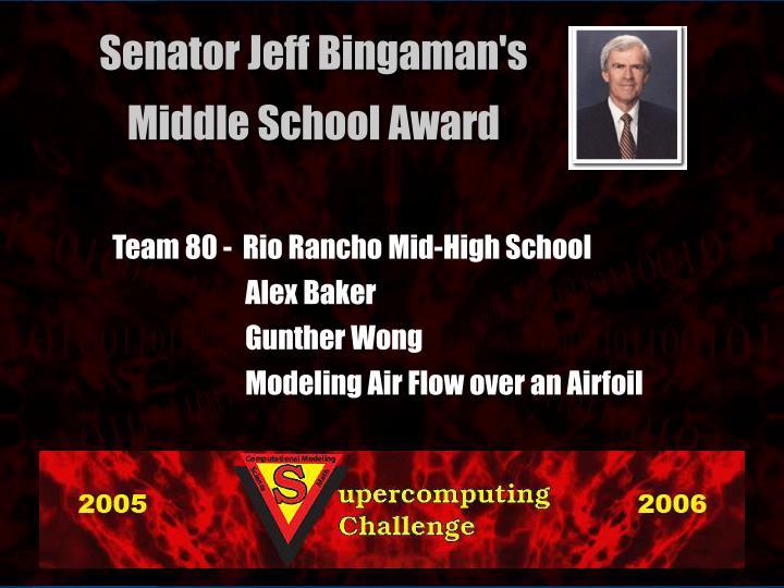 Team 80 -  Rio Rancho Mid-High School