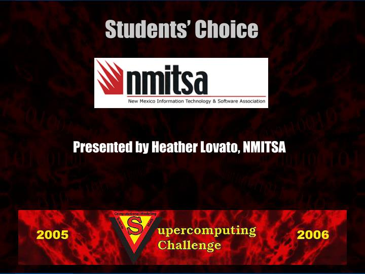 Presented by Heather Lovato, NMITSA