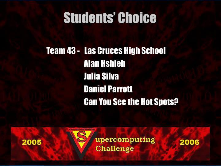 Team 43 -   Las Cruces High School