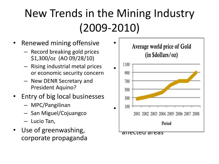 New Trends in the Mining Industry