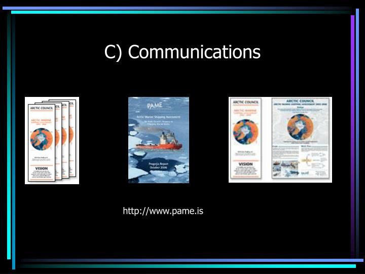 C) Communications