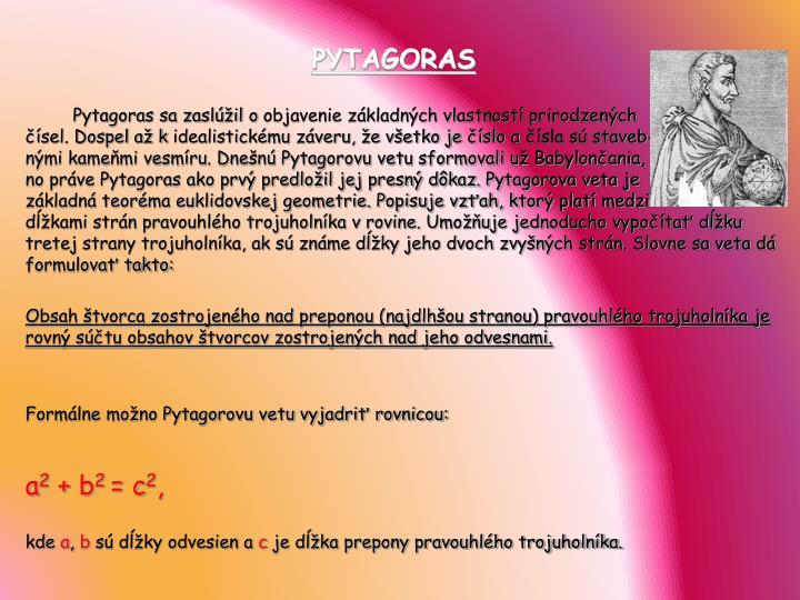 PYTAGORAS