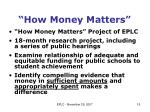 how money matters