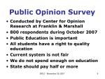 public opinion survey