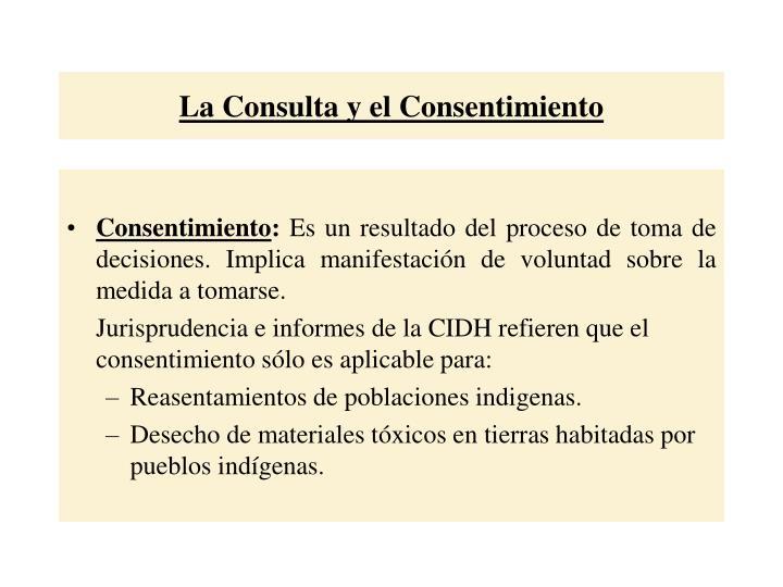 La Consulta y el Consentimiento