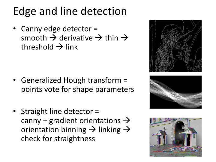 Edge and line detection