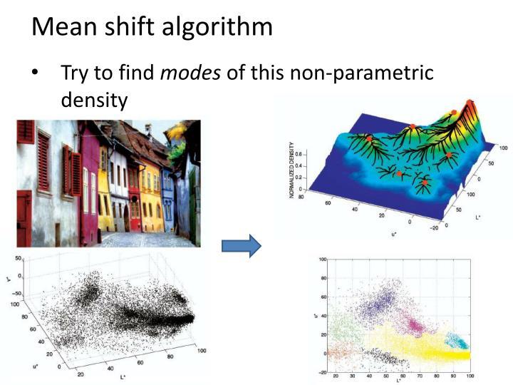 Mean shift algorithm