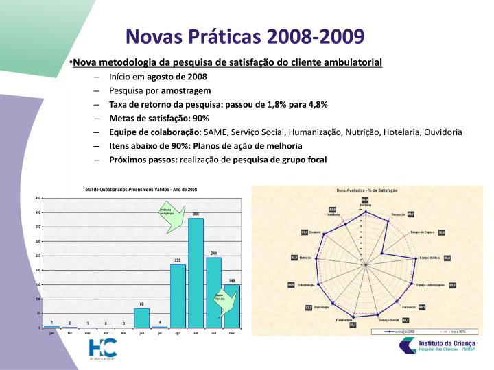 Novas pr ticas 2008 2009