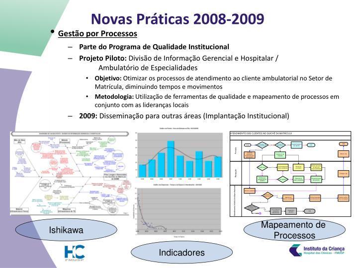 Novas Práticas 2008-2009