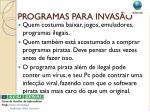 programas para invas o