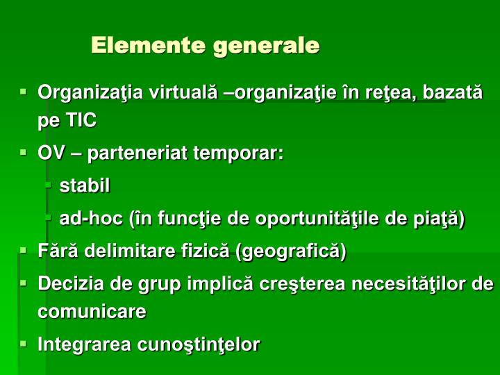 Elemente generale