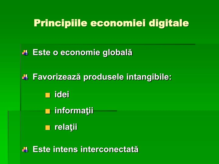 Principiile economiei digitale