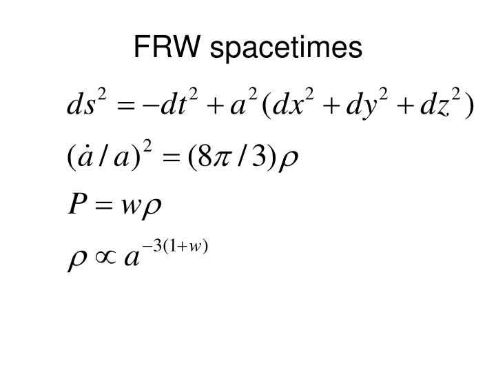 FRW spacetimes