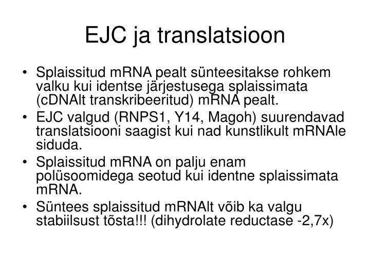 EJC ja translatsioon