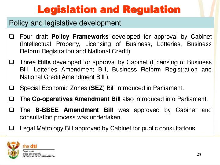 Legislation and Regulation