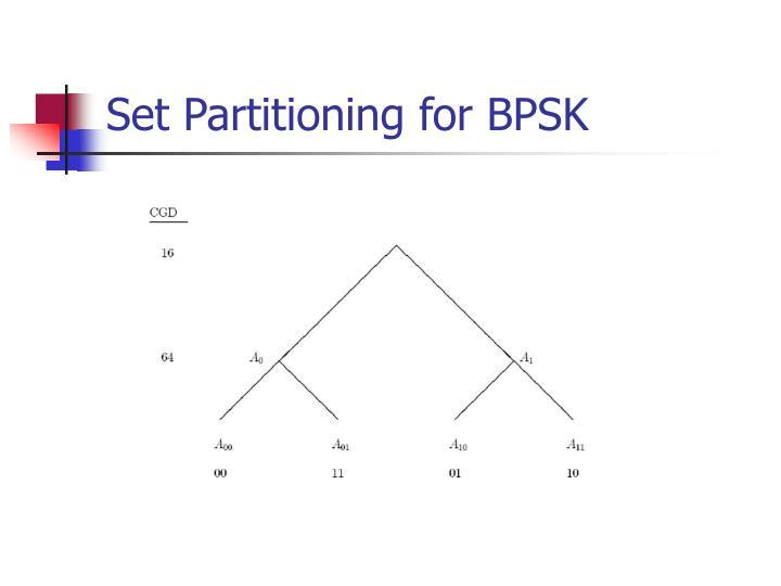 Set Partitioning for BPSK