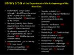 library order of the department of the a rchaeology of the near east