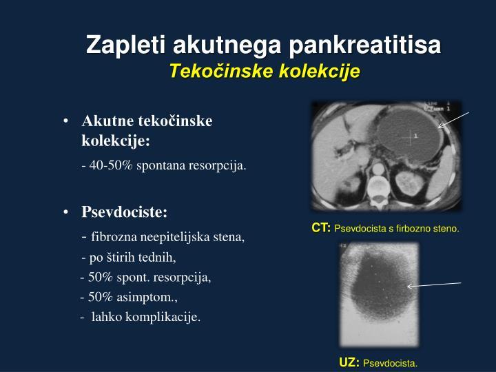 Zapleti akutnega pankreatitisa