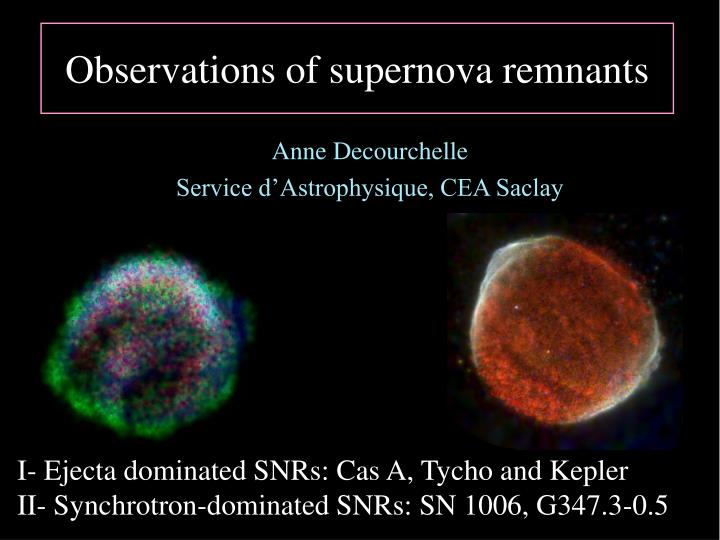 Observations of supernova remnants