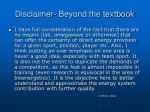 disclaimer beyond the textbook