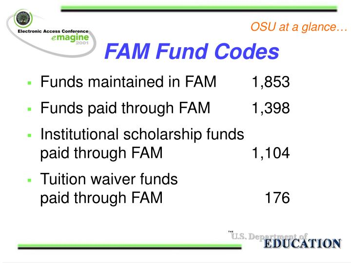 FAM Fund Codes