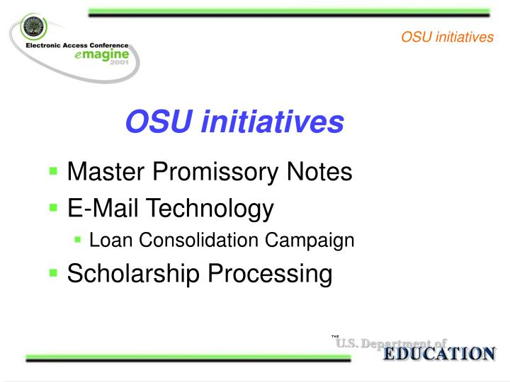 OSU initiatives
