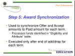 step 5 award synchronization
