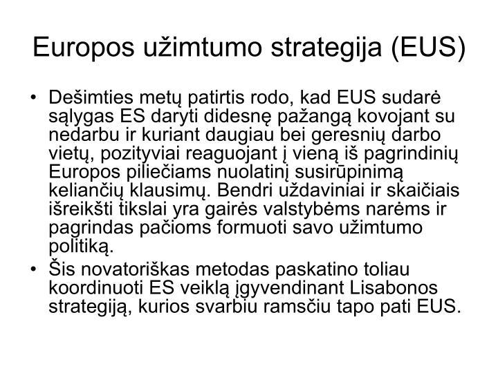 Europos užimtumo strategija (EUS)