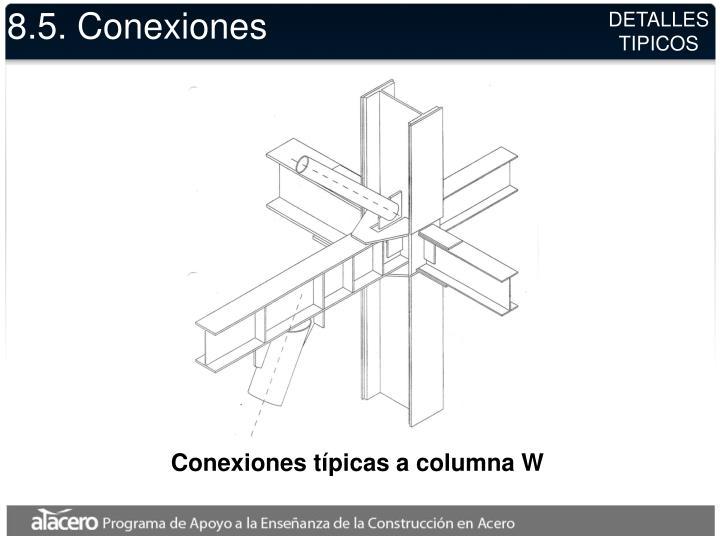 8.5. Conexiones