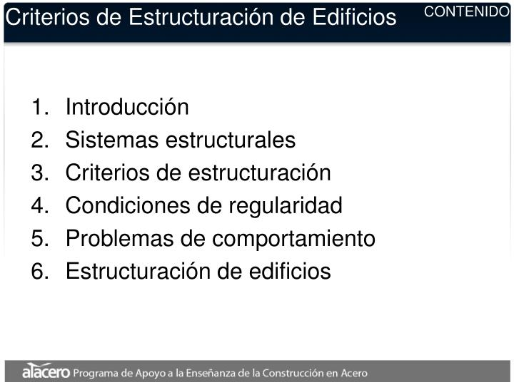 Criterios de estructuraci n de edificios